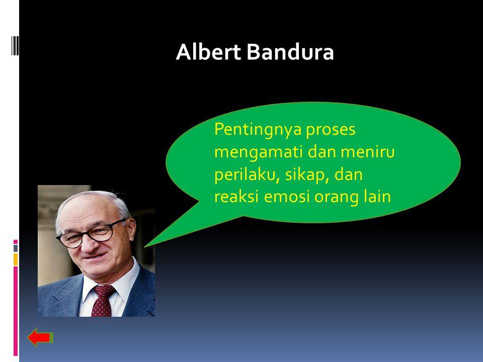 Albert Bandura Pentingnya proses mengamati dan meniru perilaku, sikap, dan reaksi emosi orang lain