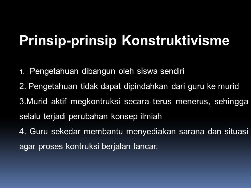 Prinsip-prinsip Konstruktivisme