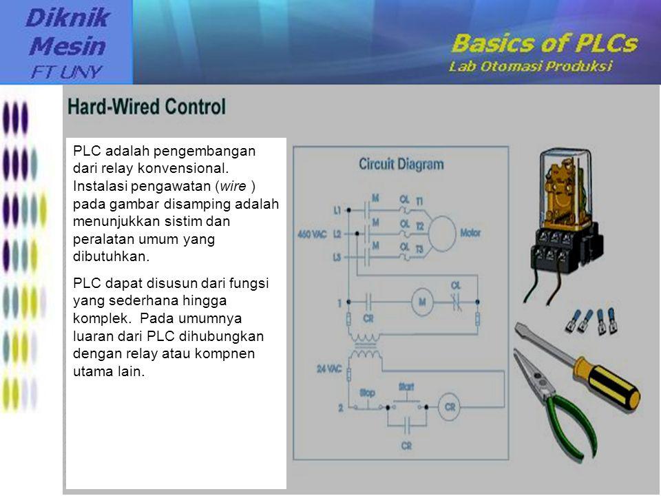PLC adalah pengembangan dari relay konvensional