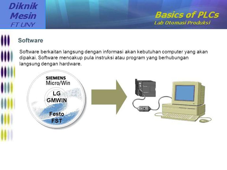 Software berkaitan langsung dengan informasi akan kebutuhan computer yang akan dipakai. Software mencakup pula instruksi atau program yang berhubungan langsung dengan hardware.