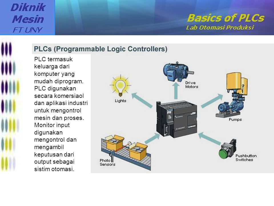 PLC termasuk keluarga dari komputer yang mudah diprogram