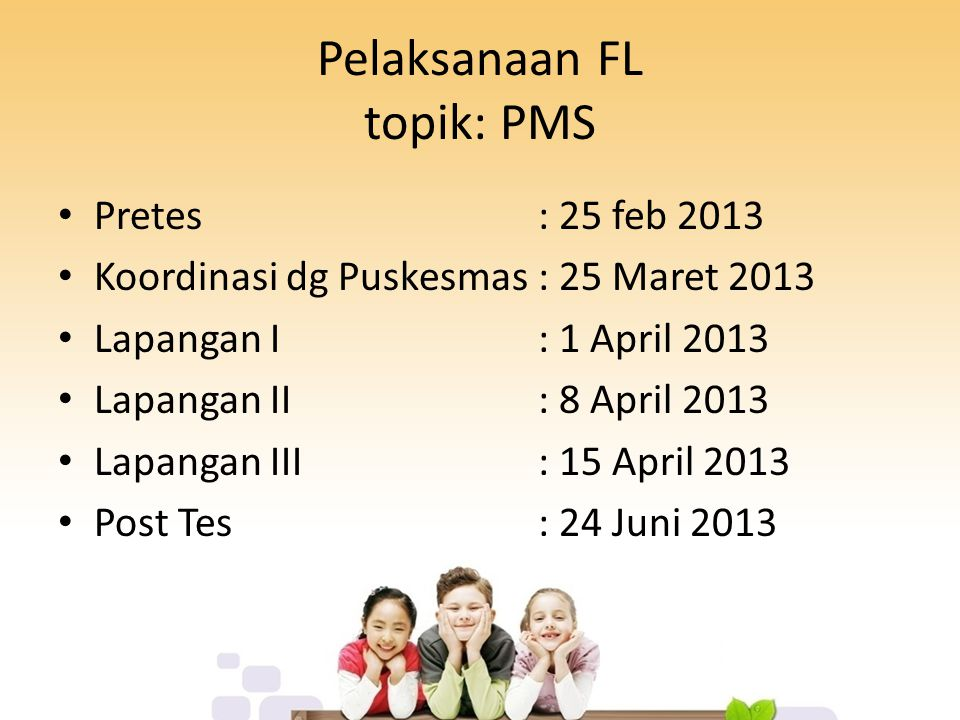Pelaksanaan FL topik: PMS