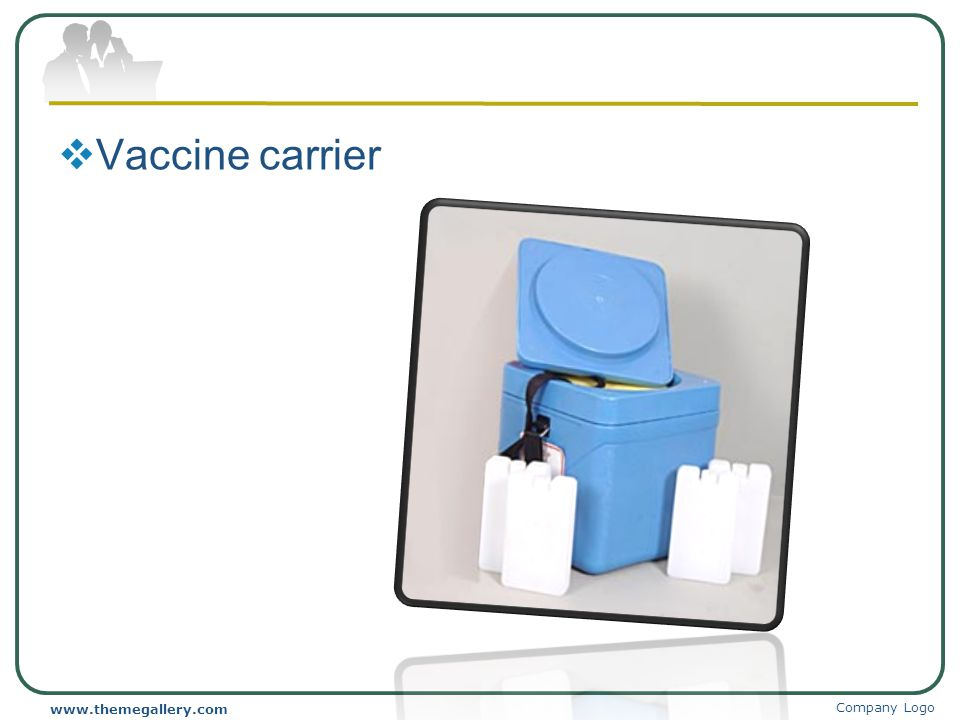 Vaccine carrier www.themegallery.com Company Logo