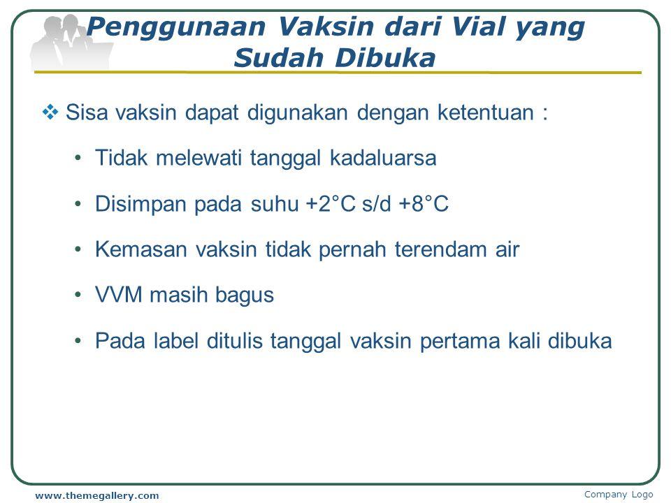 Penggunaan Vaksin dari Vial yang Sudah Dibuka
