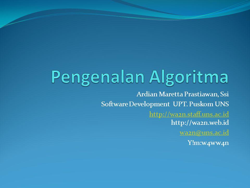 Pengenalan Algoritma Ardian Maretta Prastiawan, Ssi