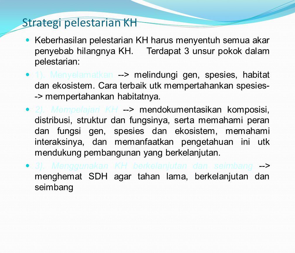 Strategi pelestarian KH