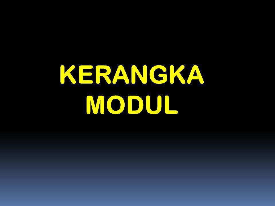 KERANGKA MODUL Materi 13 - Sosialisasi/Pelatihan Depdiknas 2006