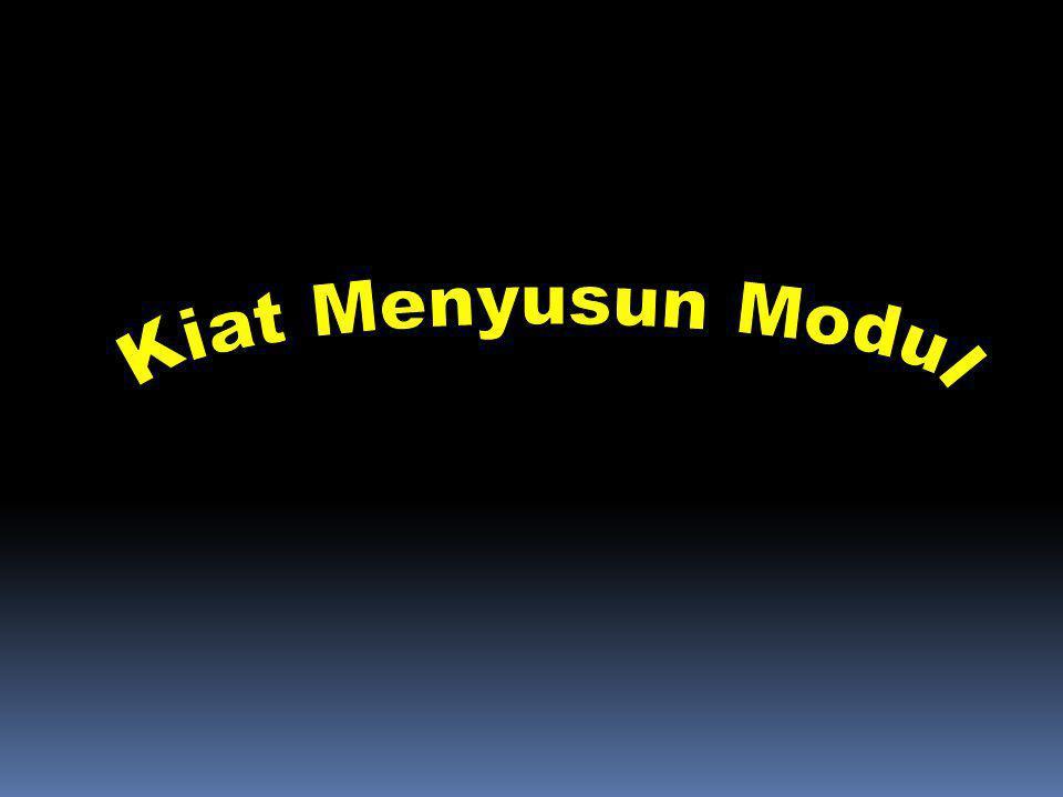 Kiat Menyusun Modul Materi 13 - Sosialisasi/Pelatihan Depdiknas 2006