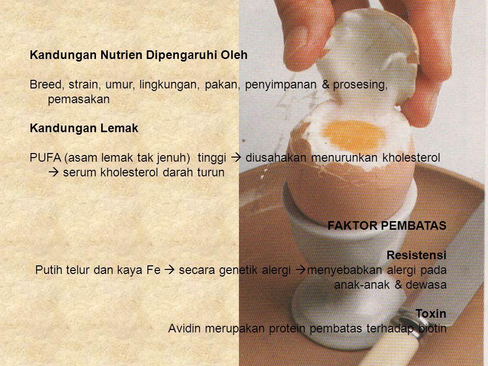 Kandungan Nutrien Dipengaruhi Oleh