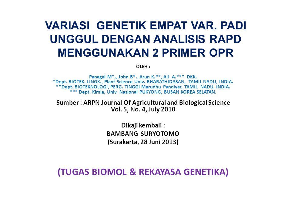 VARIASI GENETIK EMPAT VAR