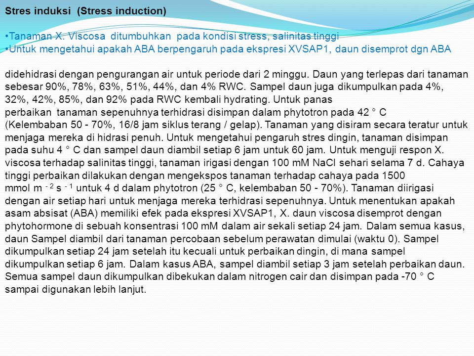 Stres induksi (Stress induction)