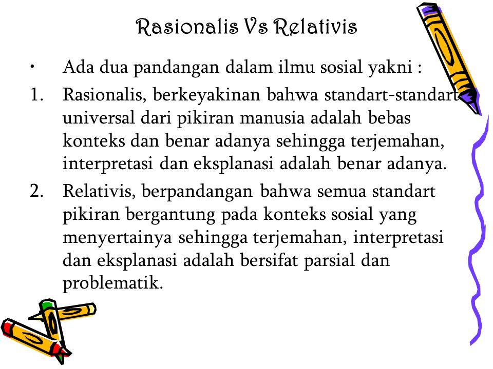 Rasionalis Vs Relativis