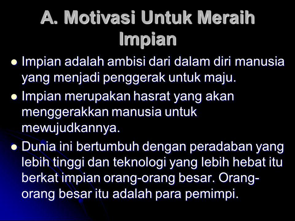 A. Motivasi Untuk Meraih Impian