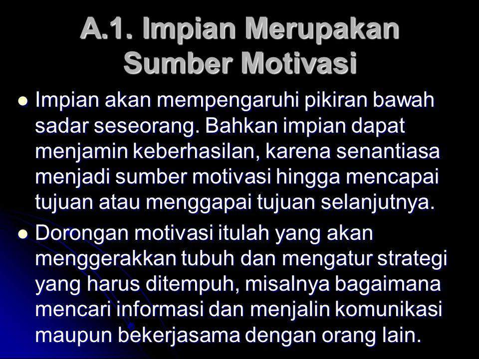 A.1. Impian Merupakan Sumber Motivasi