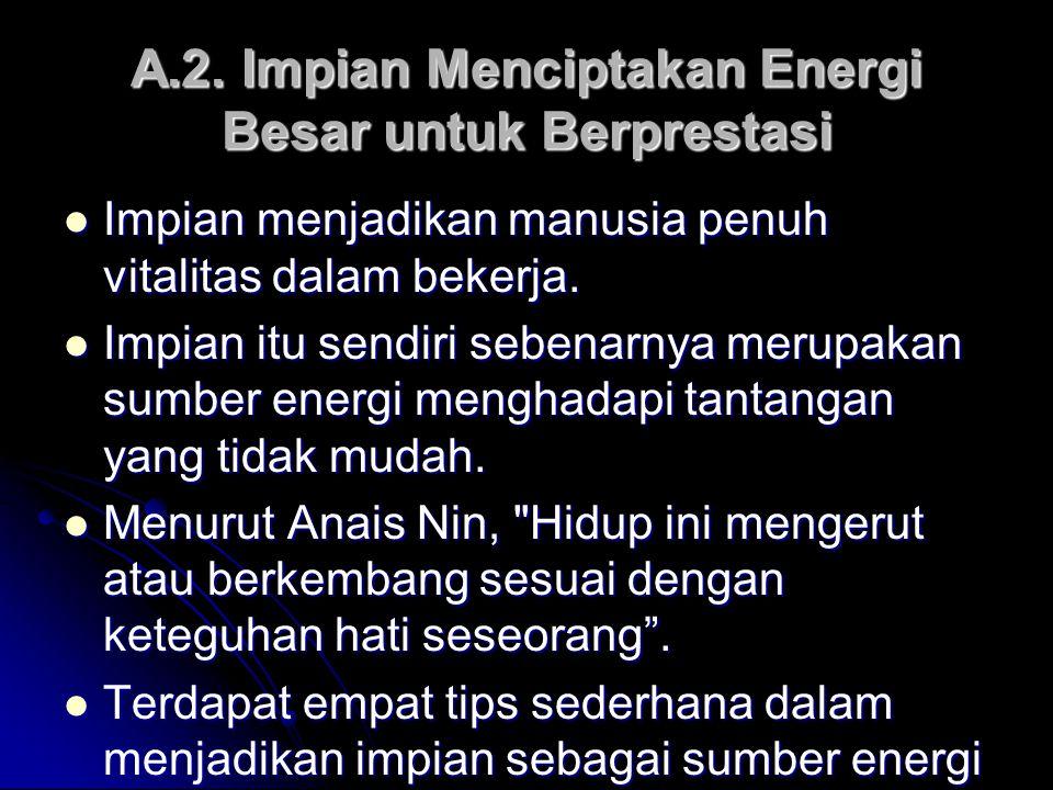 A.2. Impian Menciptakan Energi Besar untuk Berprestasi