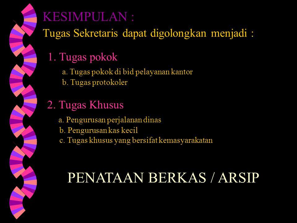 PENATAAN BERKAS / ARSIP