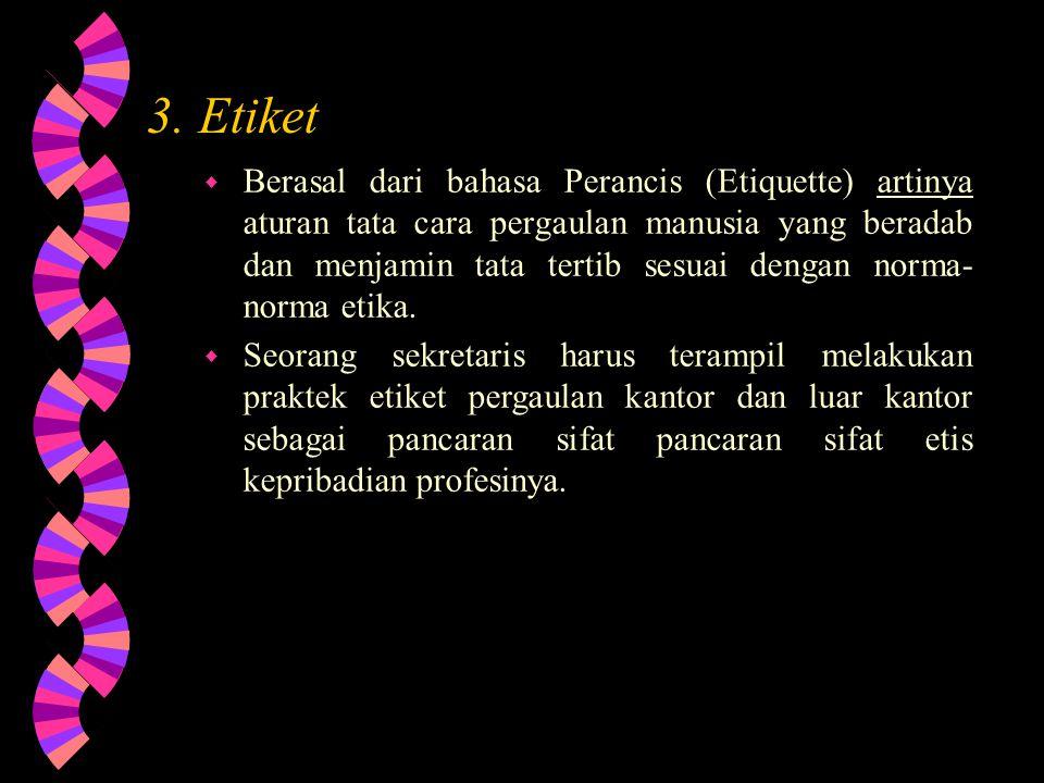 3. Etiket