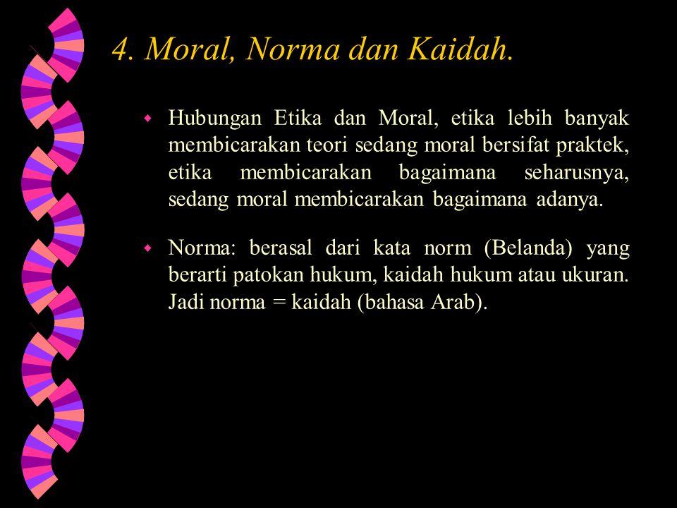 4. Moral, Norma dan Kaidah.