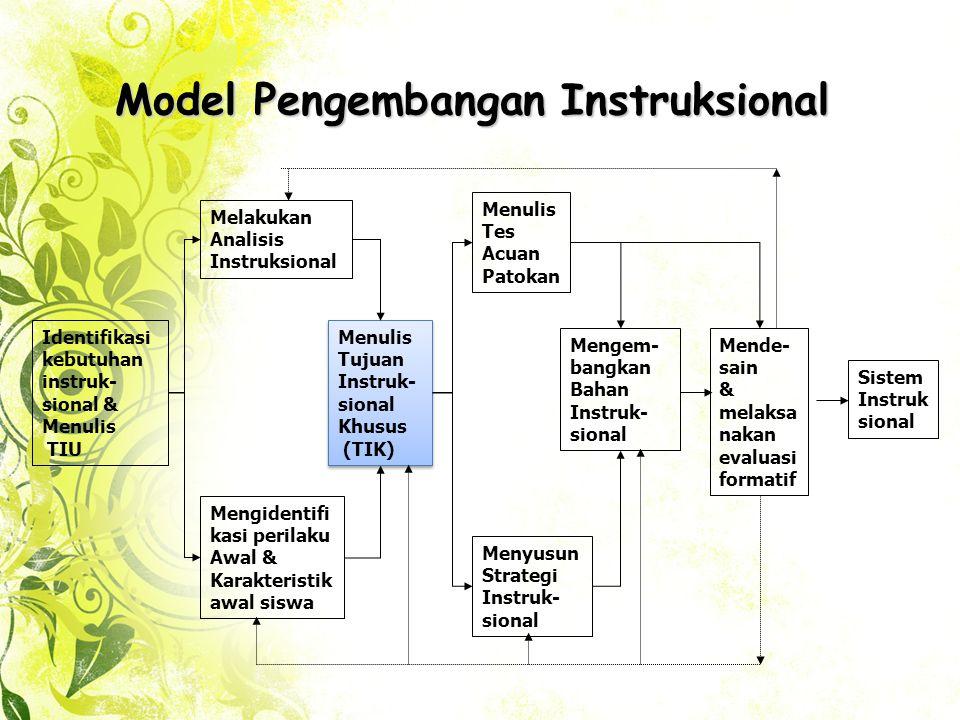 Model Pengembangan Instruksional