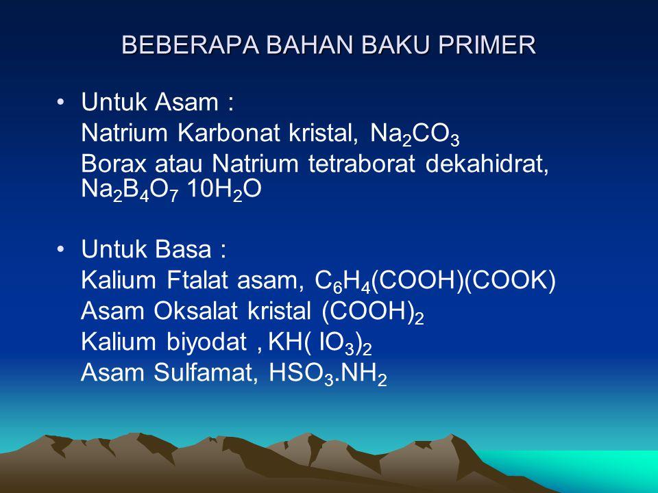 BEBERAPA BAHAN BAKU PRIMER