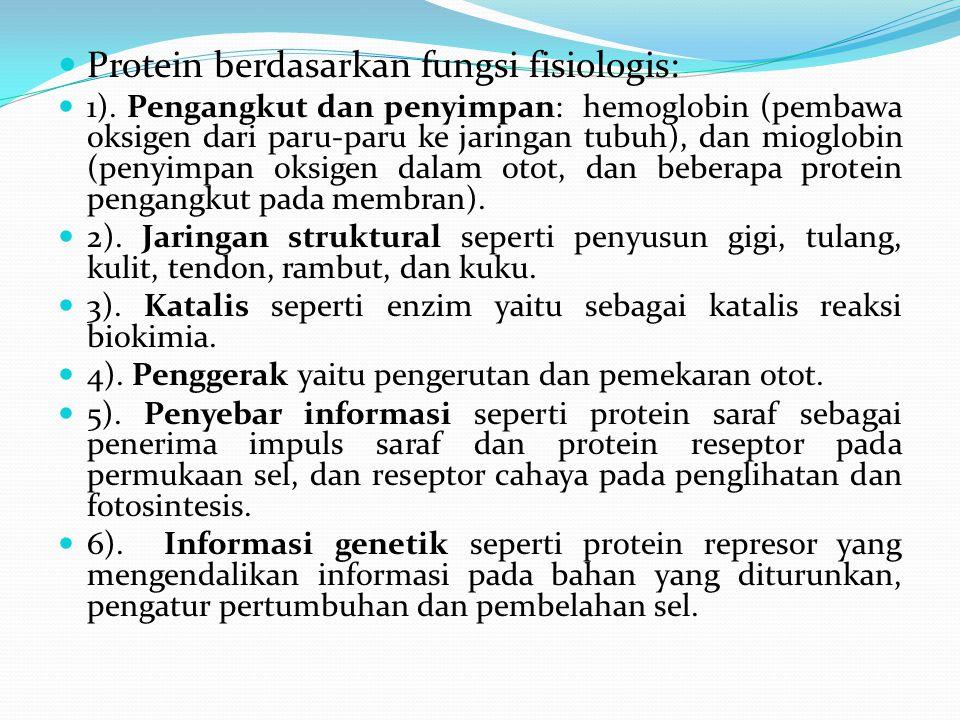 Protein berdasarkan fungsi fisiologis:
