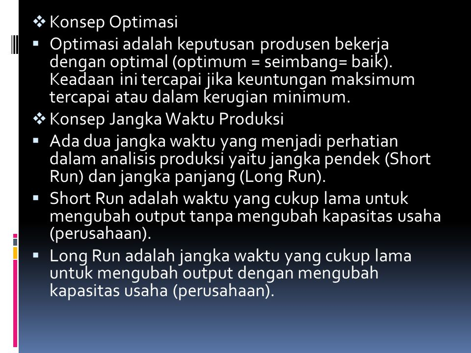Konsep Optimasi