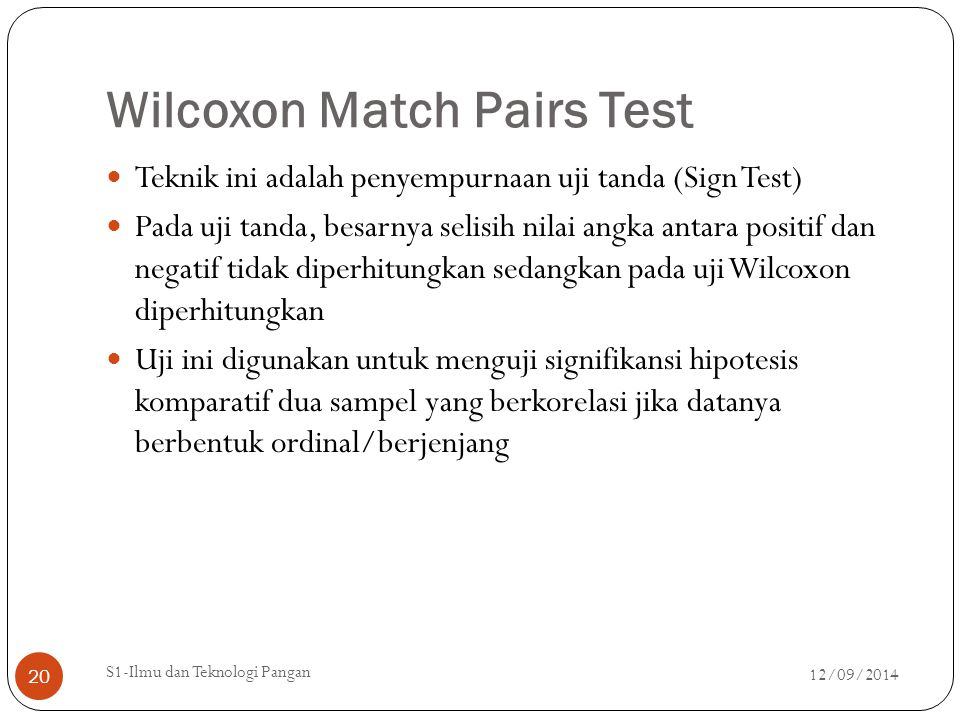Wilcoxon Match Pairs Test