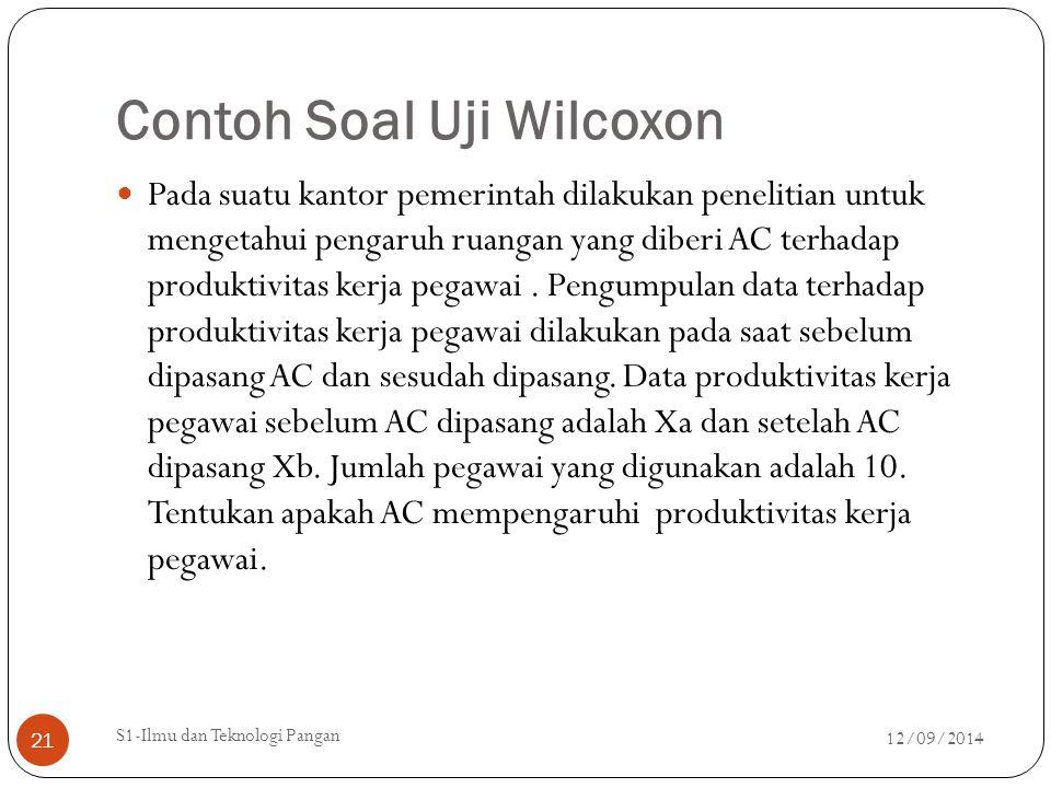 Contoh Soal Uji Wilcoxon