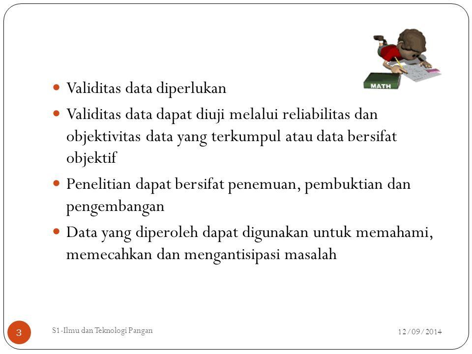 Validitas data diperlukan