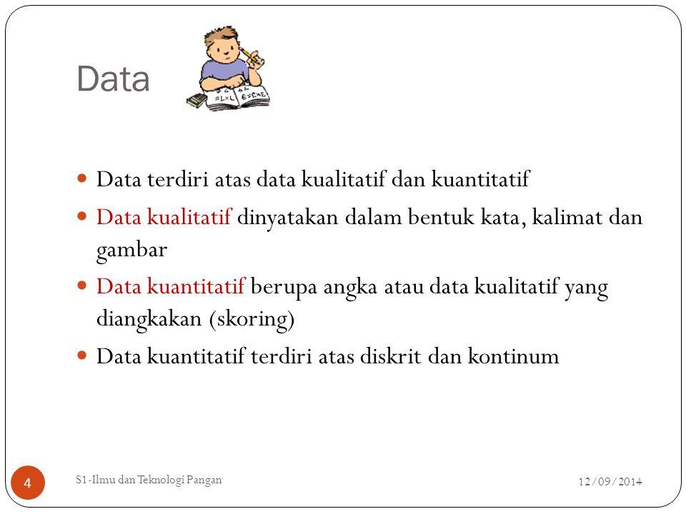 Data Data terdiri atas data kualitatif dan kuantitatif