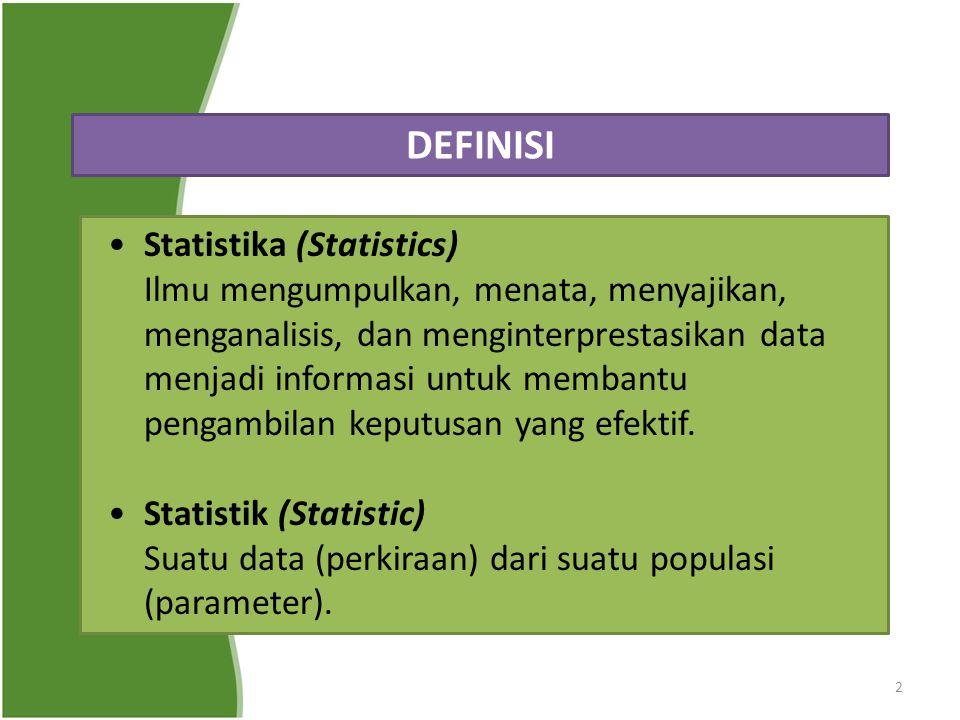 DEFINISI Statistika (Statistics)
