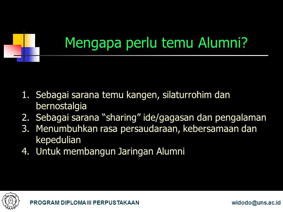 Mengapa perlu temu Alumni