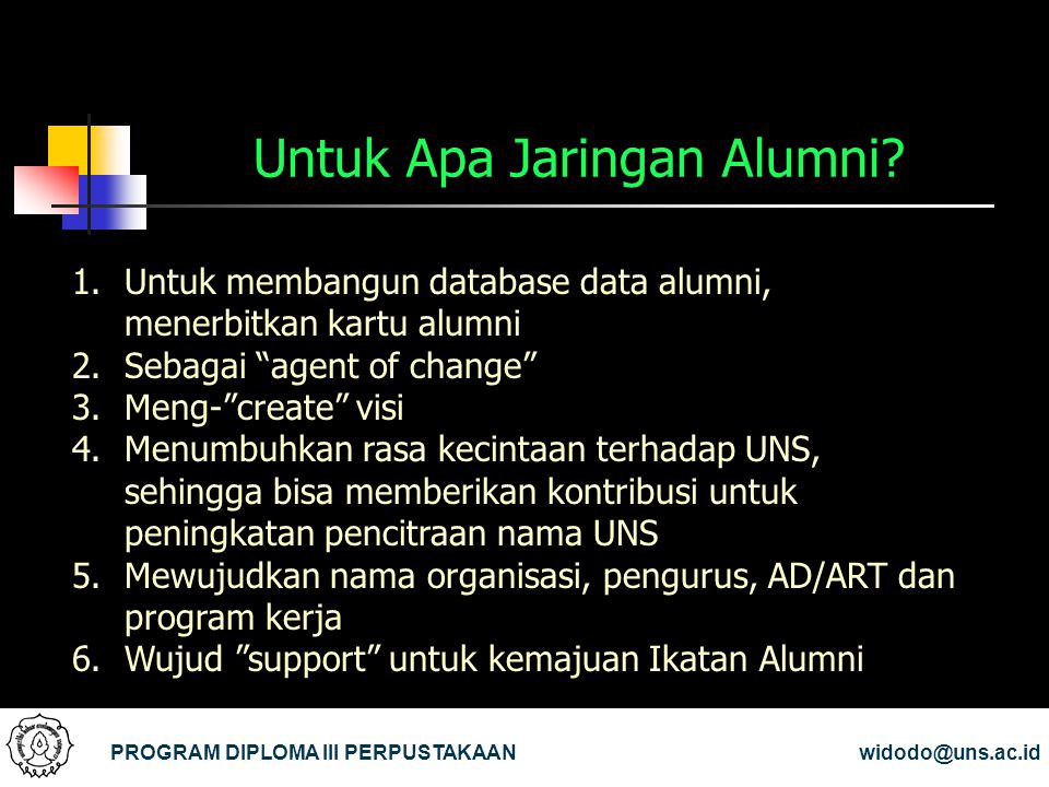 Untuk Apa Jaringan Alumni
