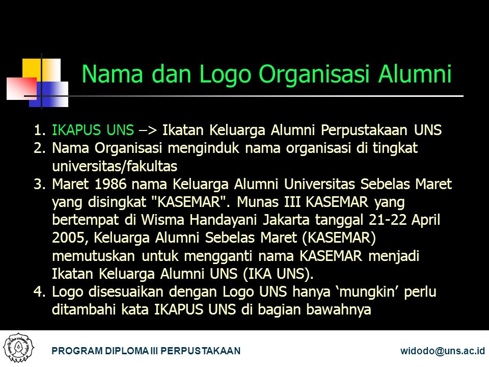 Nama dan Logo Organisasi Alumni