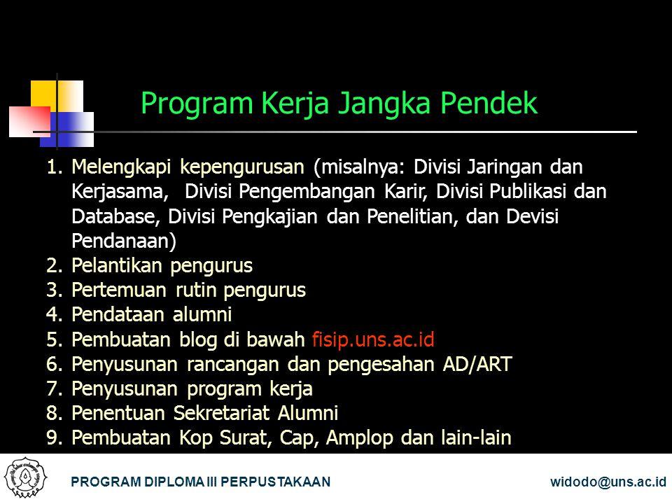 Program Kerja Jangka Pendek