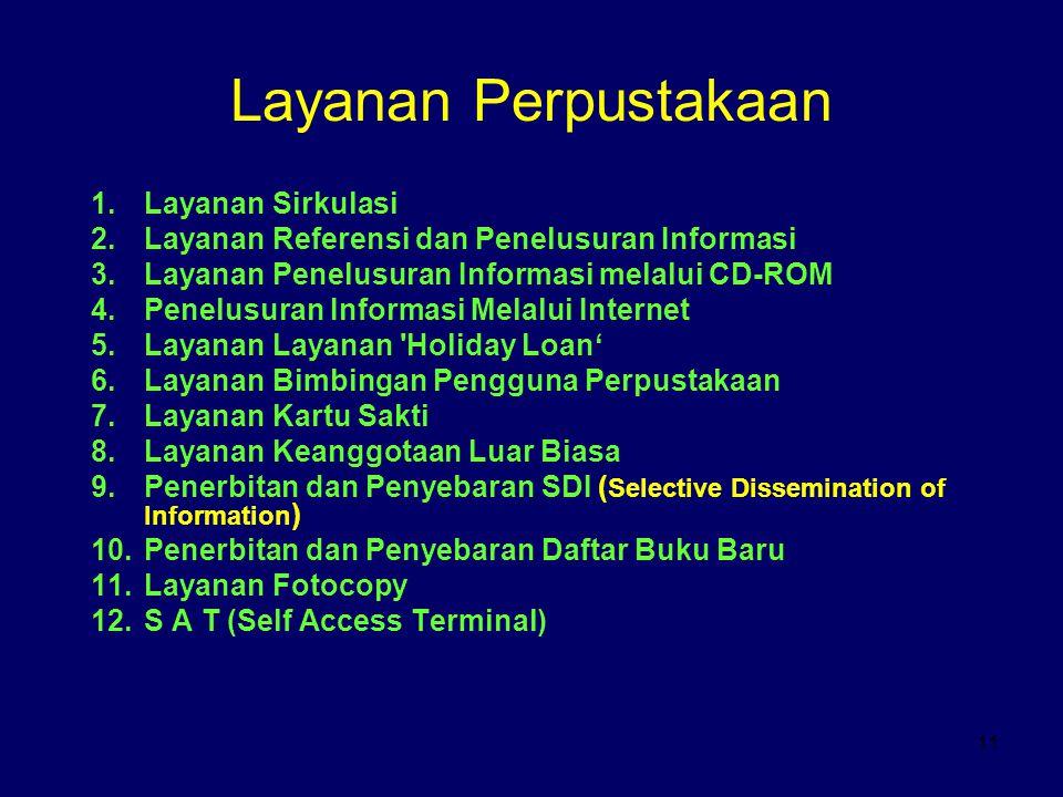 Layanan Perpustakaan Layanan Sirkulasi
