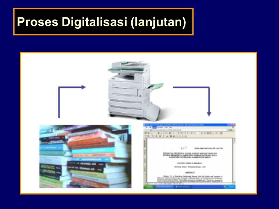 Proses Digitalisasi (lanjutan)