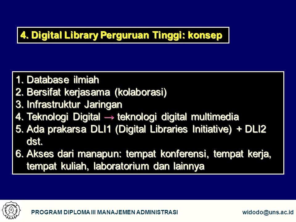 Bersifat kerjasama (kolaborasi) Infrastruktur Jaringan