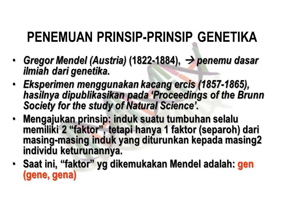 PENEMUAN PRINSIP-PRINSIP GENETIKA