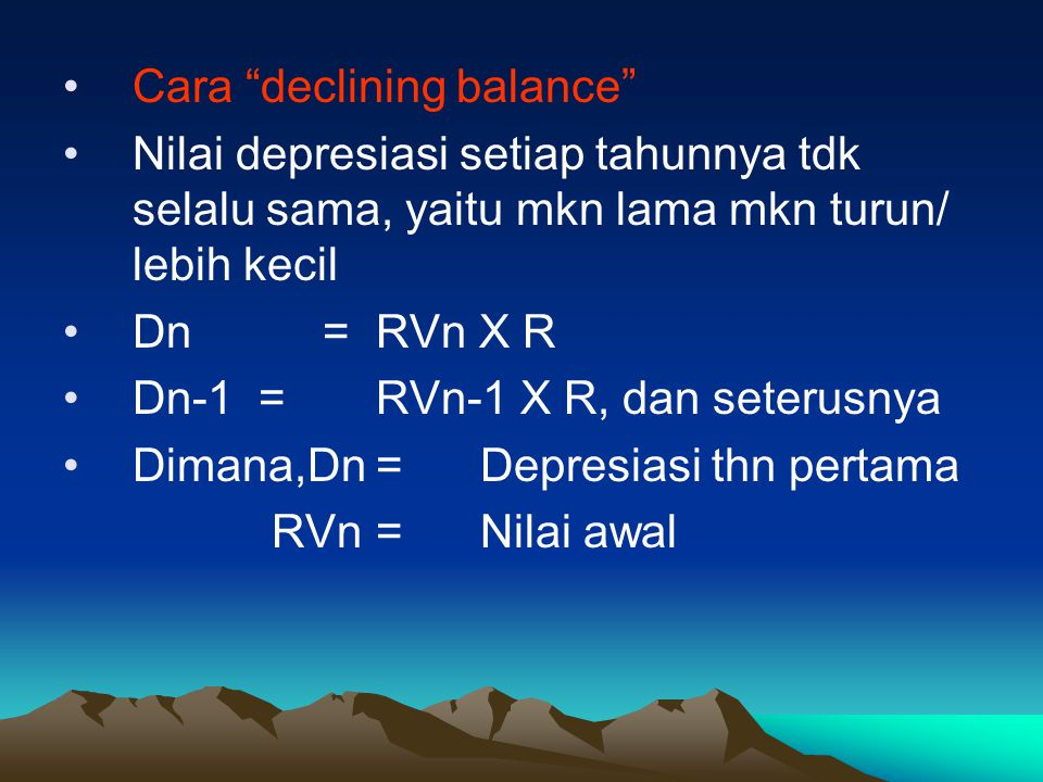Cara declining balance