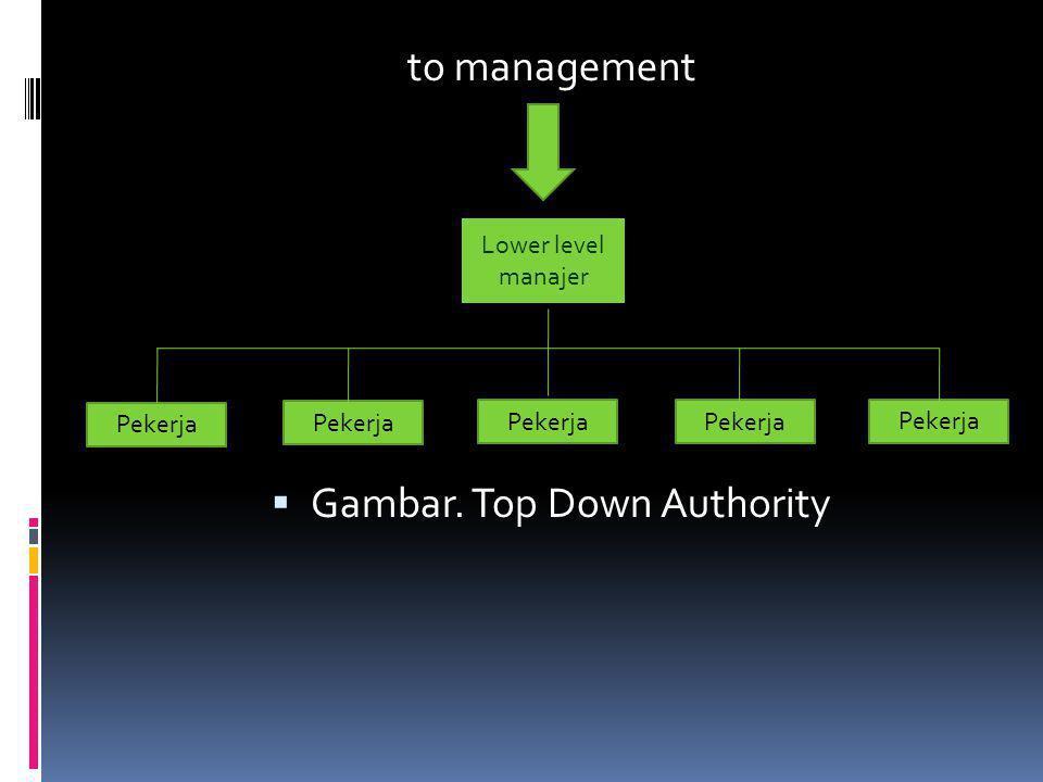 Gambar. Top Down Authority