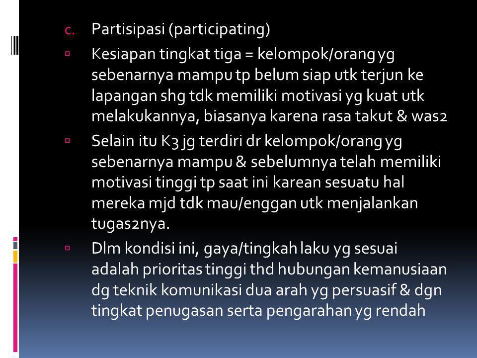 Partisipasi (participating)