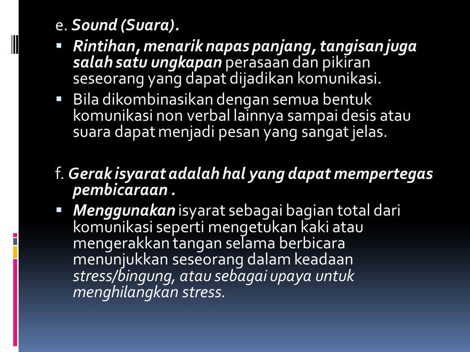 e. Sound (Suara).
