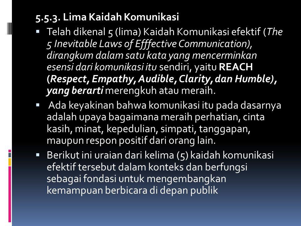 5.5.3. Lima Kaidah Komunikasi