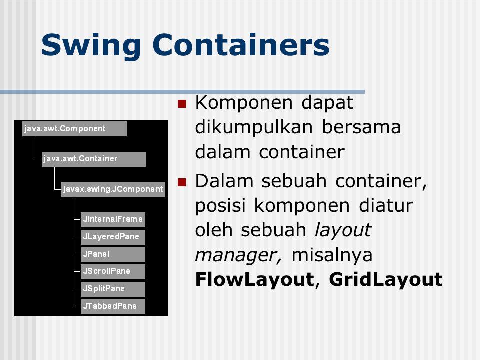 Swing Containers Komponen dapat dikumpulkan bersama dalam container