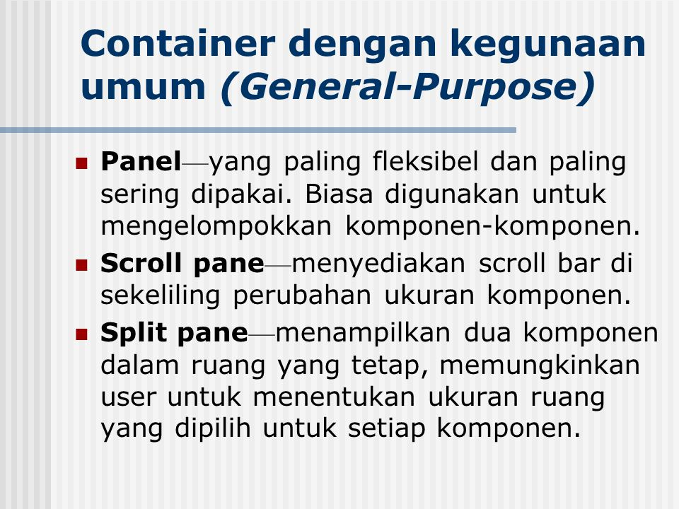 Container dengan kegunaan umum (General-Purpose)