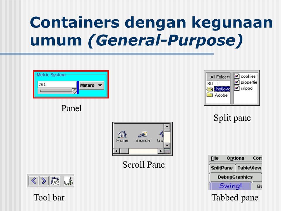 Containers dengan kegunaan umum (General-Purpose)