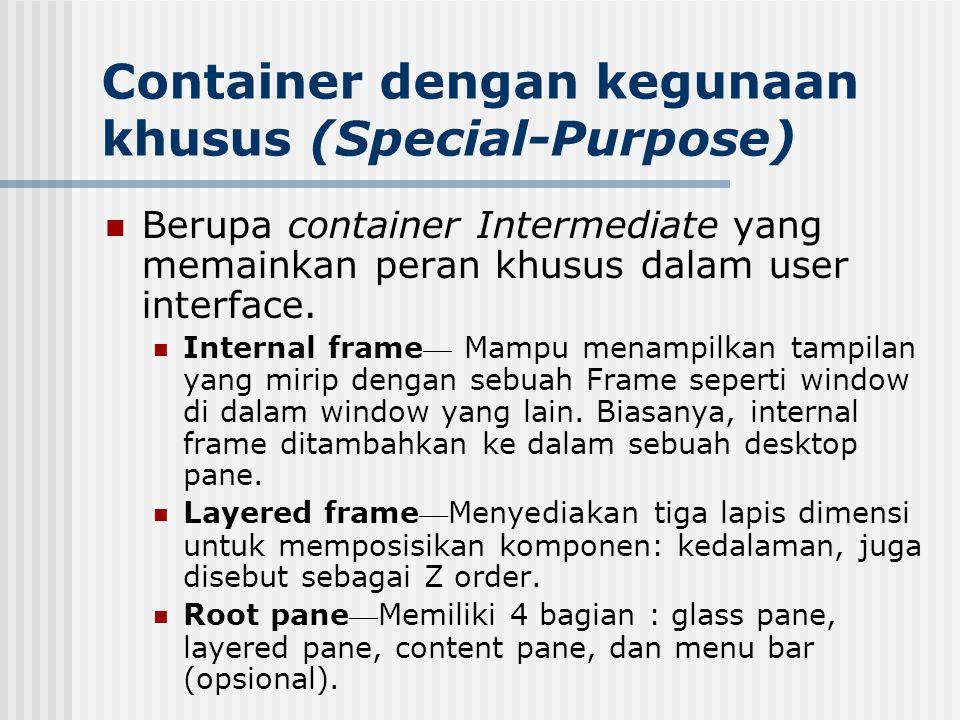 Container dengan kegunaan khusus (Special-Purpose)