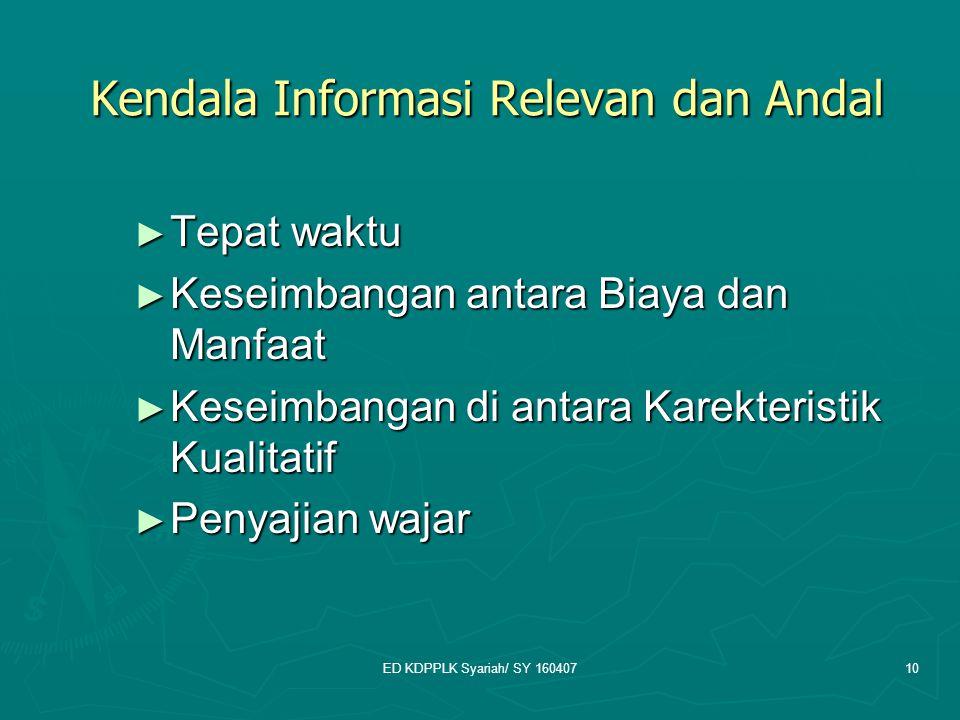 Kendala Informasi Relevan dan Andal