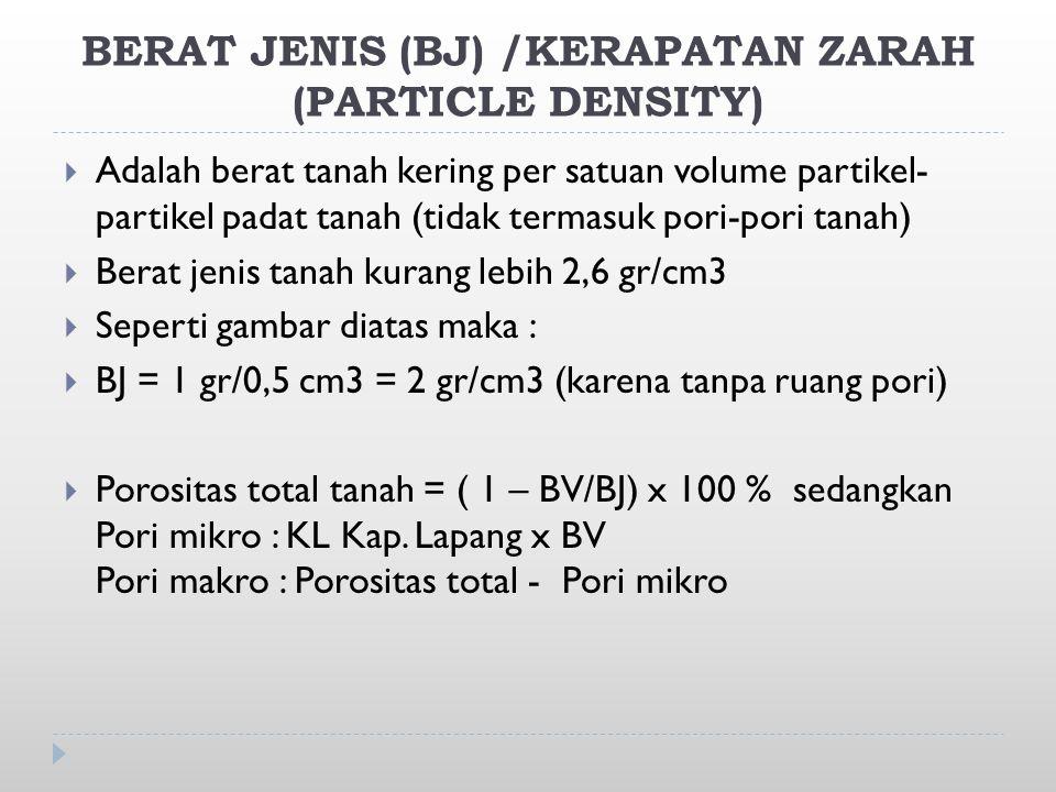 BERAT JENIS (BJ) /KERAPATAN ZARAH (PARTICLE DENSITY)